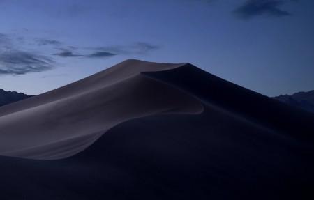 莫哈韦沙漠 苹果4K高端电脑桌面壁纸 晚上