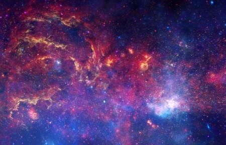 银河系带鱼屏高端电脑桌面壁纸3440x1440