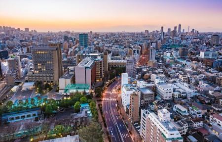 日本东京城市风景4k高端电脑桌面壁纸