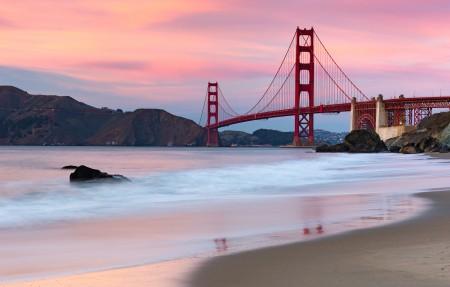美国旧金山金门大桥4k风景高端电脑桌面壁纸