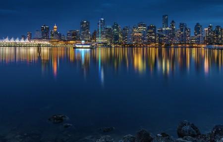 漂浮的城市3440x1440风景高端电脑桌面壁纸