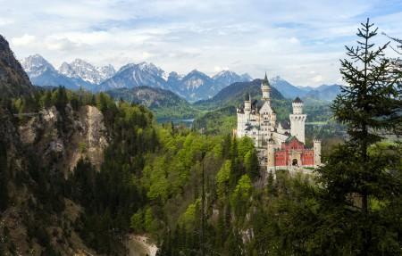 德国巴伐利亚新天鹅堡3840x2160风景高端电脑桌面壁纸