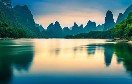 桂林山水 广西阳朔5k风景高端电脑桌面壁纸