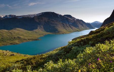 挪威besseggen风景3440x1440高端电脑桌面壁纸