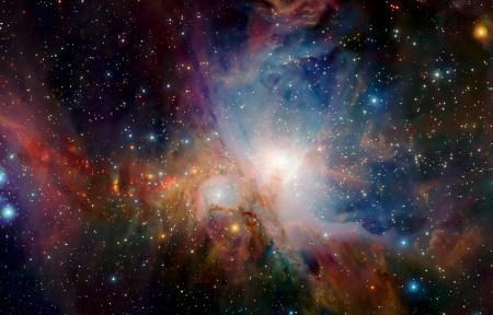 猎户座星云3440x1440高端电脑桌面壁纸