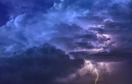 天空 风暴 闪电 云 6k风景图片