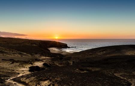 海边日落风景3440x1440桌面超高清壁纸精选