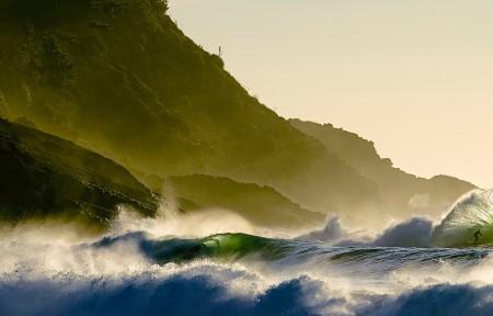 海洋海浪3440x1440风景高端电脑桌面壁纸