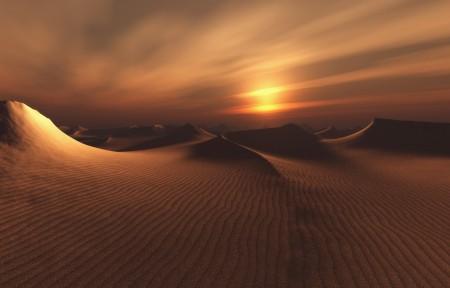 沙漠风景3440x1440高端电脑桌面壁纸