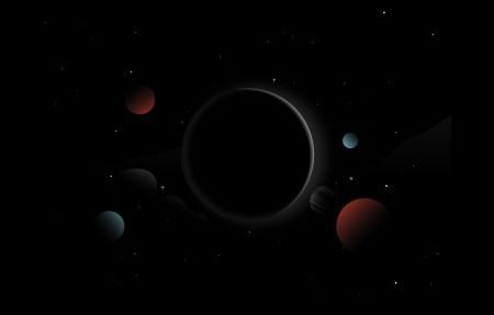 行星 Moon 阳光 黑暗 星星 HD 空间 4k高端电脑桌面壁纸