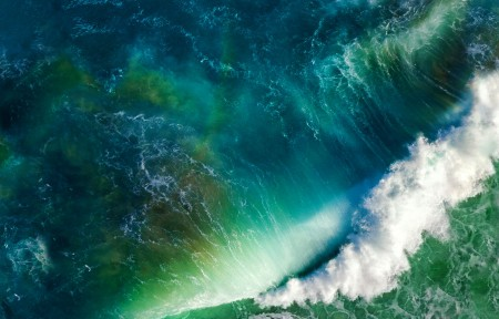 海浪风景3440x1440带鱼屏高端电脑桌面壁纸