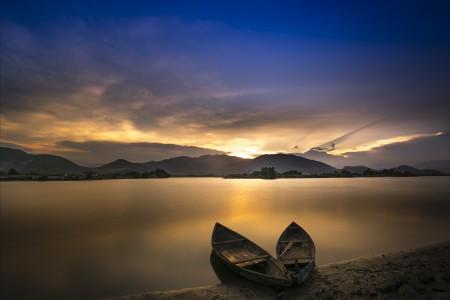 船 划艇 海滩 宁静 5k风景图片