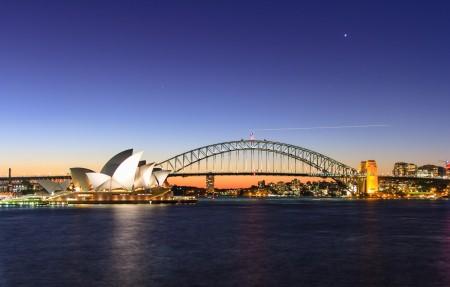 悉尼歌剧院 悉尼港 悉尼港湾大桥 4k风景壁纸超高清图片下载