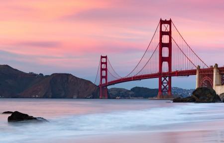 美国旧金山的金门大桥3440x1440风景高端电脑桌面壁纸
