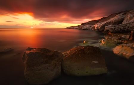 海边太阳落山美丽的风景4k高端电脑桌面壁纸