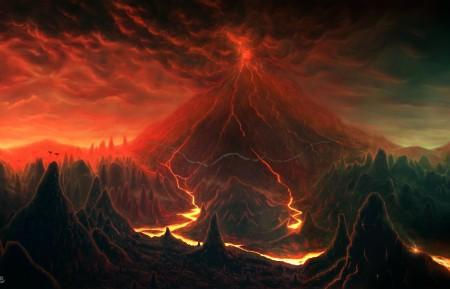 红色山4k风景高端电脑桌面壁纸