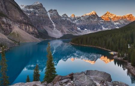 落基山脉湖4096x2304风景高端电脑桌面壁纸