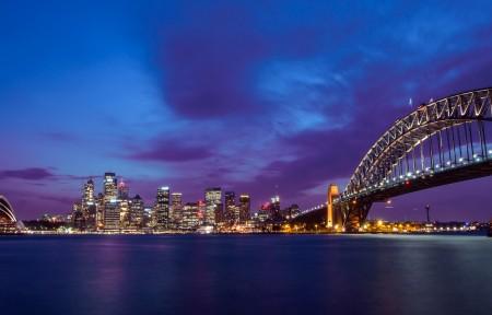 悉尼歌剧院 悉尼大桥3440x1440带鱼屏曲面高端电脑桌面壁纸