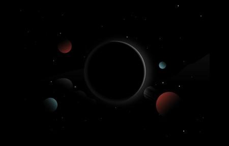 行星 黑暗 星星 HD 空间 3440x1440高端电脑桌面壁纸