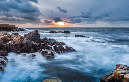 瑞典南部海边日落风景4k超高清壁纸精选