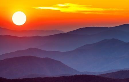 日落山脊3440x1440风景超高清壁纸精选