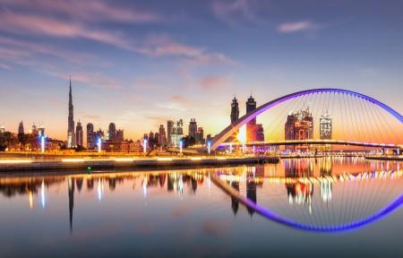 迪拜城市风光3440x1440高端电脑桌面壁纸