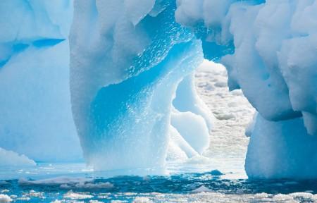 南极冰川3440x1440风景高端电脑桌面壁纸