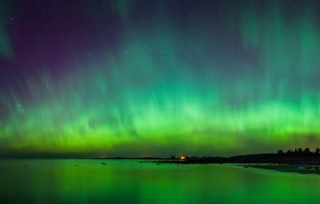 自然风景 爱沙尼亚 天空 美丽极光 星星 4k高端电脑桌面壁纸