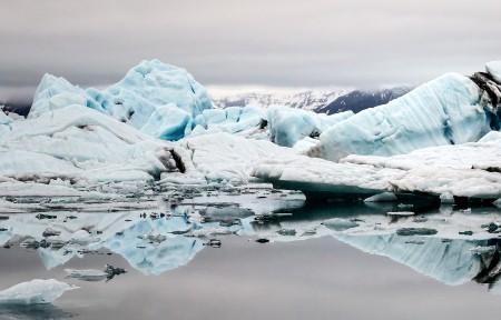 冰岛泻湖带鱼屏3440x1440高端电脑桌面壁纸