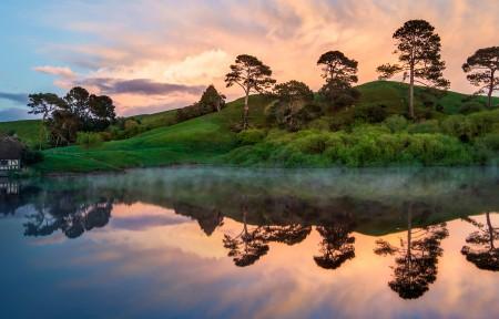 新西兰美丽迷人湖泊山脉3440x1440带鱼屏高端电脑桌面壁纸