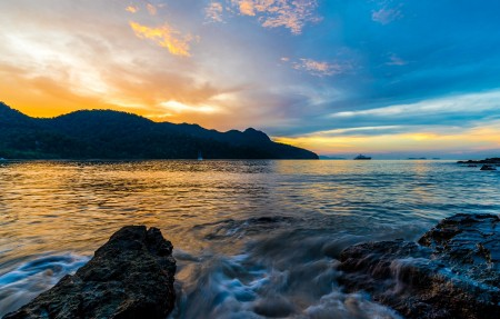 Datai Bay 海湾日落风景4K超高清壁纸精选