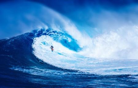 美丽的蓝色海洋大海海浪4K风景高端电脑桌面壁纸