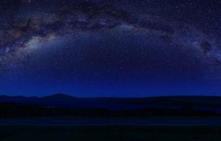 苏格兰天空高地银河星空3440x1440高端电脑桌面壁纸