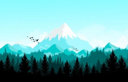 山地树林风景6K高端电脑桌面壁纸