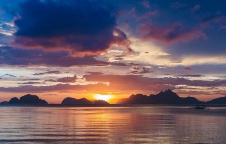 菲律宾巴拉望岛日落风景4K超高清壁纸精选