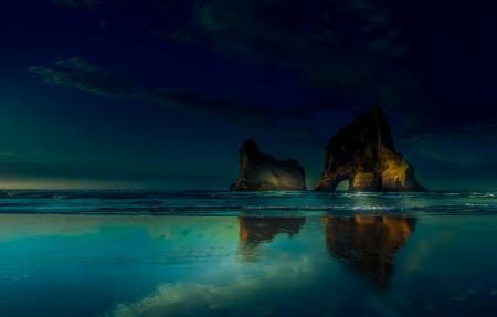 海边海滩暗色调风景4k超高清壁纸精选