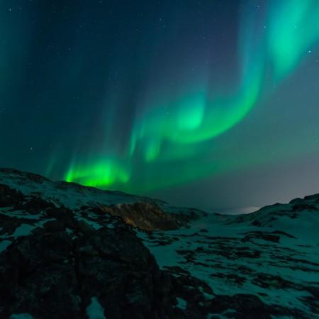 神秘梦幻的北极光风景4k高端电脑桌面壁纸