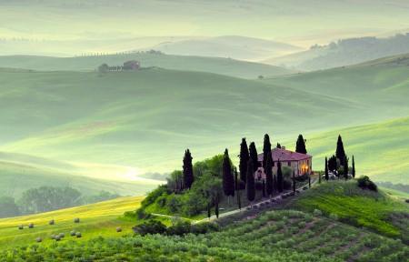 意大利托斯卡纳3440x1440风景高端电脑桌面壁纸