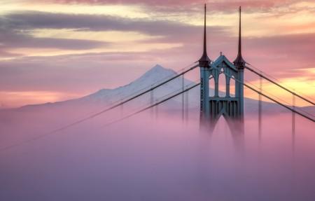 俄勒冈州圣约翰大桥4K风景高端电脑桌面壁纸