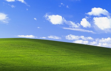 Bliss Windows XP 经典蓝天白云绿草地3440x1440高清高端电脑桌面壁纸