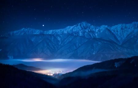 晚上,天空,星星,山脉,天狼星3840x2160风景高端电脑桌面壁纸