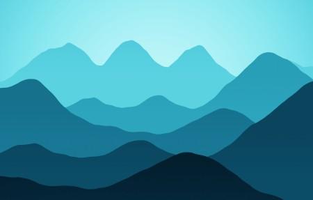 山脉矢量风景4K高端电脑桌面壁纸