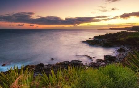 夏威夷考艾岛日落风景3840x2160高端电脑桌面壁纸
