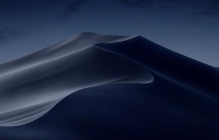 苹果MacOS Mojave 夜晚沙漠3440x1440风景高端电脑桌面壁纸
