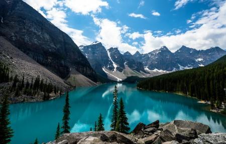 加拿大班夫国家公园 翡翠莫林湖3840x2160超高清壁纸精选