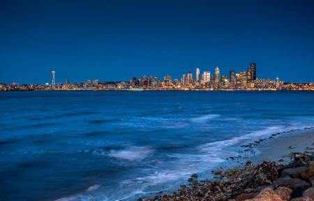 美丽的海湾城市风景4K高端电脑桌面壁纸