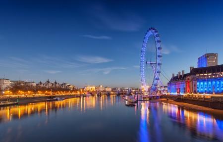 伦敦摩天轮4K风景高端电脑桌面壁纸3840x2160