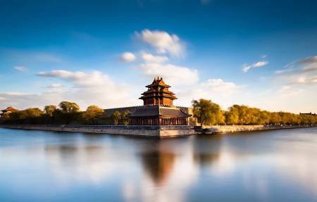 北京故宫角楼4K风景高端电脑桌面壁纸