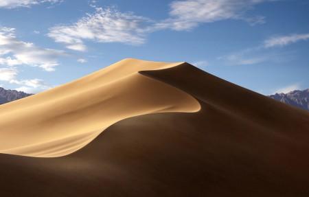 苹果MacOS Mojave 白天沙漠风景4k高端电脑桌面壁纸