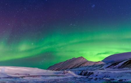 挪威的星空极光风景3440x1440高端电脑桌面壁纸